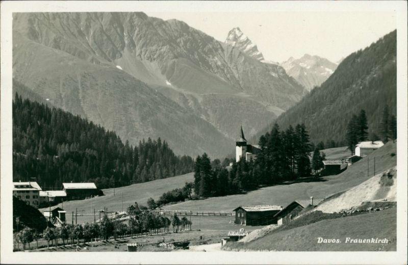 Ansichtskarte Davos Panorama-Ansicht Umlandansicht Frauenkirch 1933