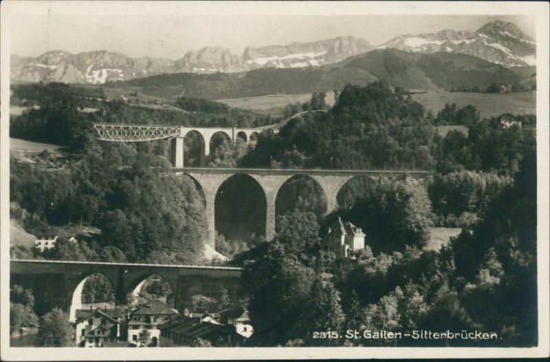 Bruggen-St. Gallen San Gallo / Sogn Gagl / St-Gall Sitterbrücke Brücken 1930
