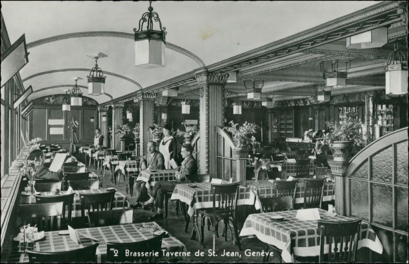 Ansichtskarte Genf Genève Brasserie Taverne de St. Jean 1965