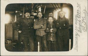 Foto  Erinnerung an die Lehrzeit Schlosser 1920 Privatfoto