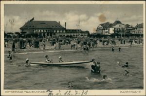 Ansichtskarte Travemünde-Lübeck Promenade - Strandleben 1931