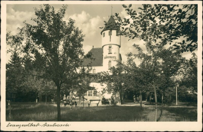 Postcard Franzensbad Františkovy Lázně Dankwarte - Straßenpartie 1940