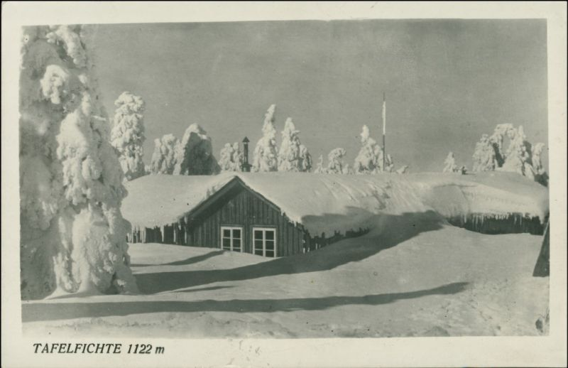 Neustadt   Tafelfichte Nové Město pod Smrkem Tafelfichte/Smrk Schutzhaus 1930