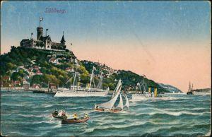 Ansichtskarte Blankenese-Hamburg Süllberg, Segelboote - Yachten 1923