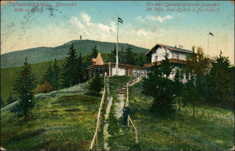 Postcard Krombach Krompach Johannisstein, Restauration 1912
