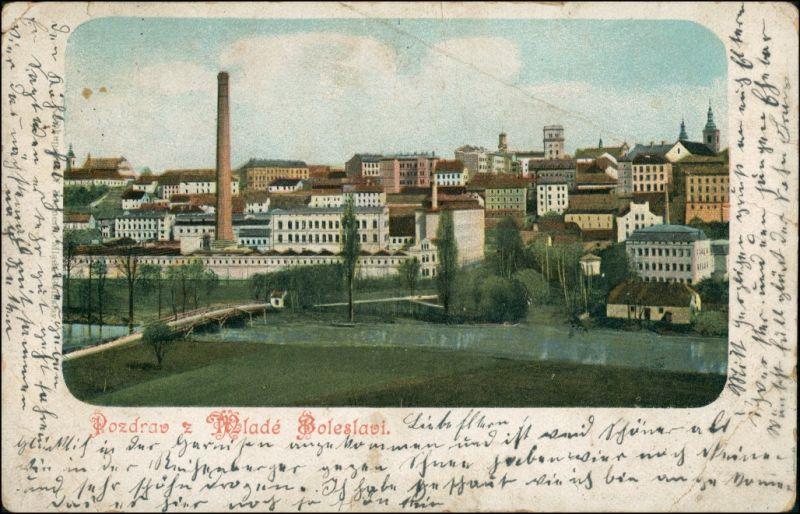 Postcard Jungbunzlau Mladá Boleslav Stadt - Fabrikanlage 1903