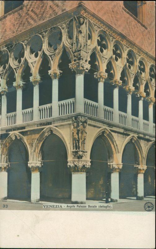 Cartoline Venedig Venezia Angolo Palazzo Ducale (coloriertes Foto) 1910