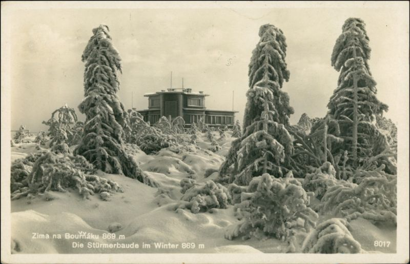 Niklasberg Mikulov v Krušných horách Stürmerbaude im Winter 1932