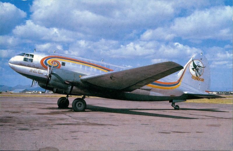 Tucson Propellerflugzeug Curtiss C-46F N800FA  ATORIE AIR Condor 1984