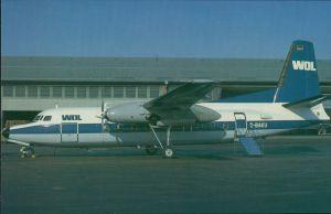 Ansichtskarte  Flugzeug F 27 Friendship - Fokkers Turboprop (D-BAKU) WDL 1985