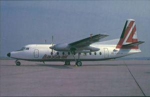 Propellerflugzeug F 27 Friendship - Fokkers Turboprop (OE-ILB) Lauda-air 1985