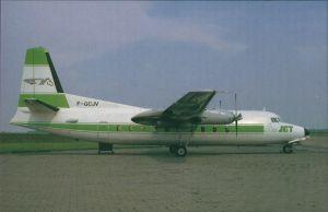 Propellerflugzeug F 27 Friendship - Fokkers Turboprop (F-GCJV) AirJet 1985