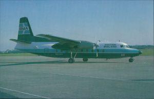 Propellerflugzeug F 27 Friendship - Fokkers Turboprop (N1036S) British Midland BMA 1985