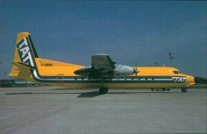 Propellerflugzeug F 27 Friendship - Fokkers Turboprop FH 227 (F-GBRQ) TAT 1985