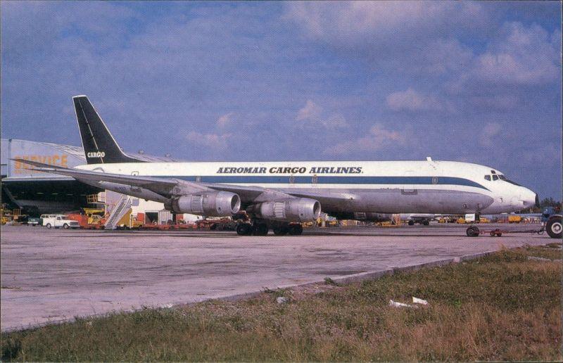 Miami Flugzeug Douglas DC-8F-54 HI-427 c/n 45684 of AEROMAR CARGO AIRLINES 1984