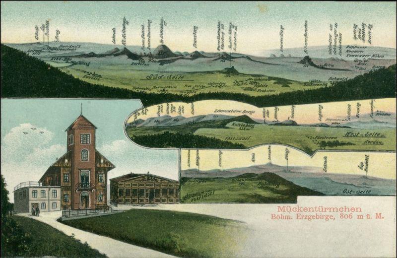Voitsdorf-Graupen Fojtovice Krupka MB Mückentürmchen Bergketten 1909
