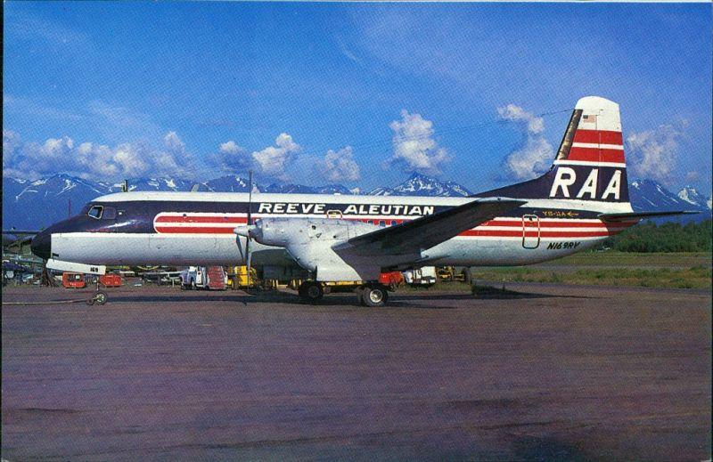 NAMC YS-11A-621 N169RV 2169 REEVE ALEUTIAN AIRWAYS Anchorage-International 1984