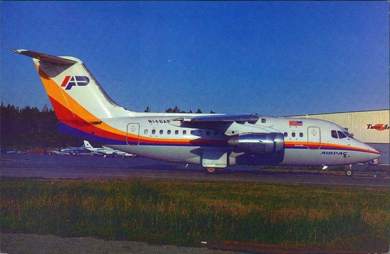 Anchorage BAe 146-100A N146AP E.1013 AIR PAC at Anchorage- International 1984