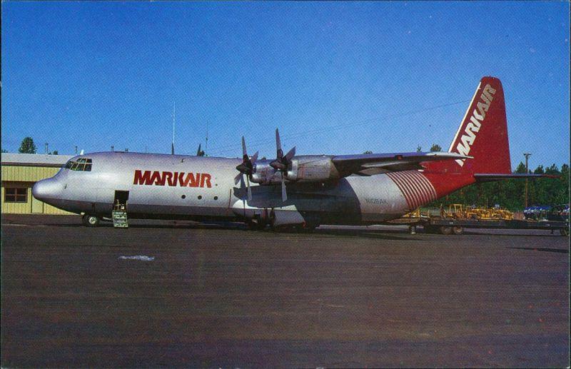 Anchorage Propellerflugzeug Lockheed L.3826 N106AK c/n 4477 of MARKAIR 1984