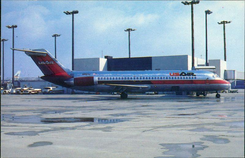 Cincinnati (Ohio) Flugzeug McDonnell Douglas DC-9 UsAir auf dem Flugplatz 1985