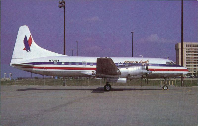 Fort Worth Propellerflugzeug AMERICAN EAGLE CONVAIR 580 N73164 c/n 367 1980