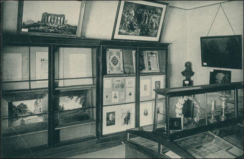 Ansichtskarte Zürich Stadtbibliothek Gottfried Keller Zimmer 1911