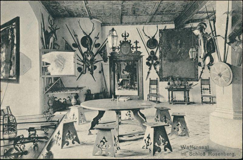 Rosenberg (Böhmen) Rožmberk nad Vltavou Schloss - Waffensaal 1914