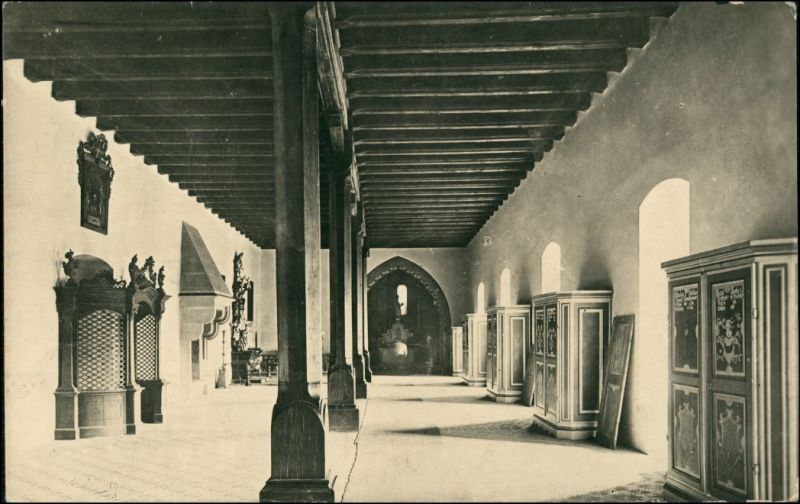Postcard Karlstein Karlštejn Burg Karlštejn - Saal 1937