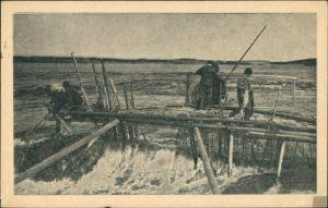 .Finnland Suomi Suomen Lohipato Laxpata Reuse in Finnland Suomi Postcard 1930