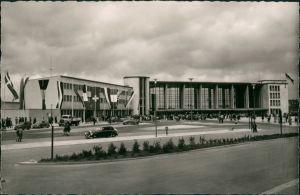 Ansichtskarte Heidelberg Bahnhof Hauptbahnhof, La Gare, Railway Station 1955