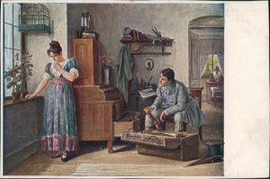 C. Zowy: Als ich Abschied nahm, Künstlerkarte, Art Postcard 1920