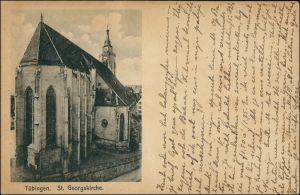 Ansichtskarte Tübingen Partie an der Stiftskirche/St. Georgs-Kirche 1916