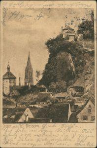 Ansichtskarte Freiburg im Breisgau Stück aus Alt Freiburg 1907