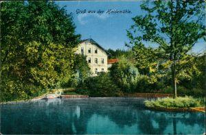Ansichtskarte Langebrück-Dresden Gasthaus Haidemühle coloriert 1915