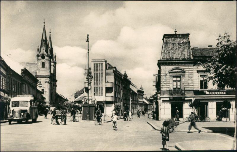 Postcard Komorn Komárom (Komárno) Straßenpartie - Autos 1853
