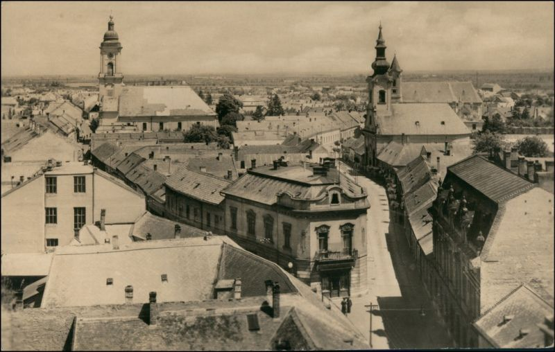 Postcard Komorn Komárom (Komárno) Stadt - Straßenblick 1951