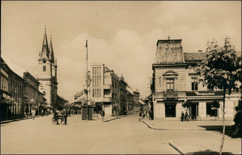 Postcard Komorn Komárom (Komárno) Masarykova Ulica 1951