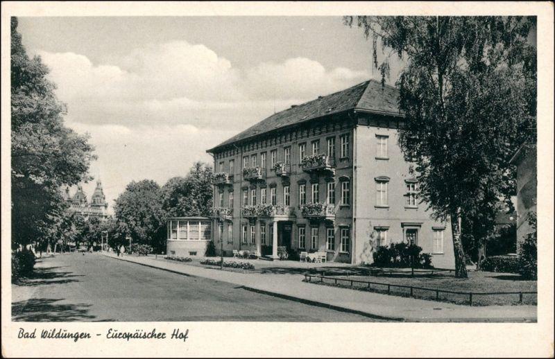 Ansichtskarte Bad Wildungen Europäischer Hof 1954