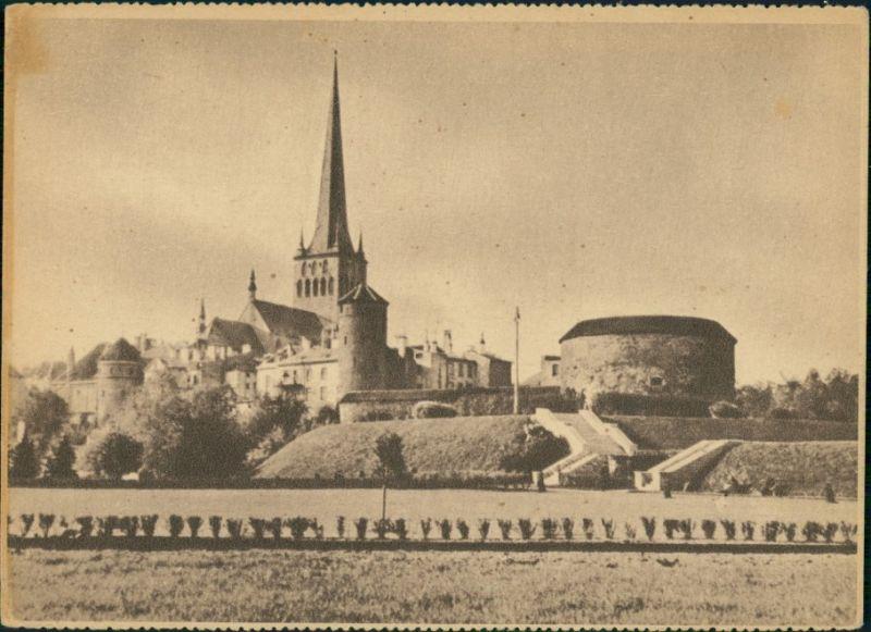 Postcard Reval Tallinn (Ревель) St. Olai und Dicke Margarete 1942