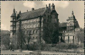 Ansichtskarte Güstrow Schloss von der Stalin-Strasse aus 1966