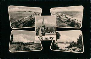 Dranske Umland-Ansichten 5 Echtfotos DDR Postkarte Mehrbildkarte 1962