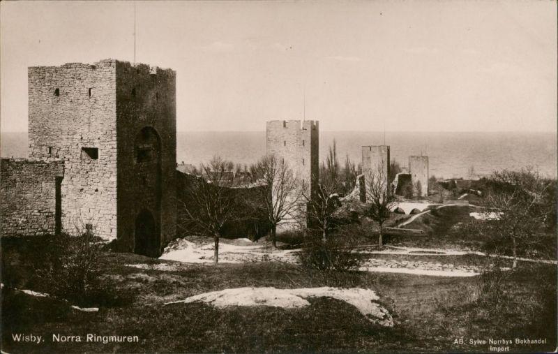 Wisby Visby Norra Ringmuren/Alte Stadtmauer Turm Türme Ringmauer 1920