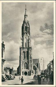 Ansichtskarte  Kirche, Church, Auto Autos, Cars (Ort unbekannt) 1950