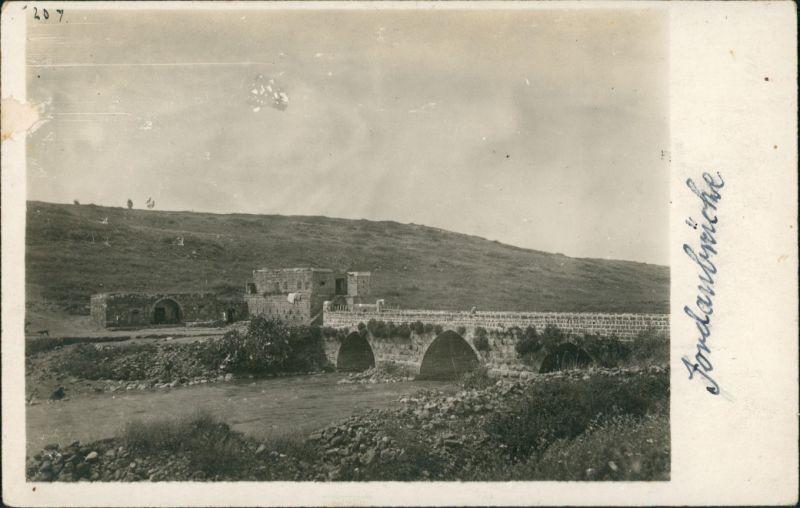 Jordan Brücke Echtfoto-AK Jordan Bridge (vermutlich Israel) 1940 Privatfoto