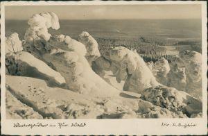 Oberhof (Thüringen) Umland-Ansicht, Schnee Winter im   Echtfoto-AK 1938