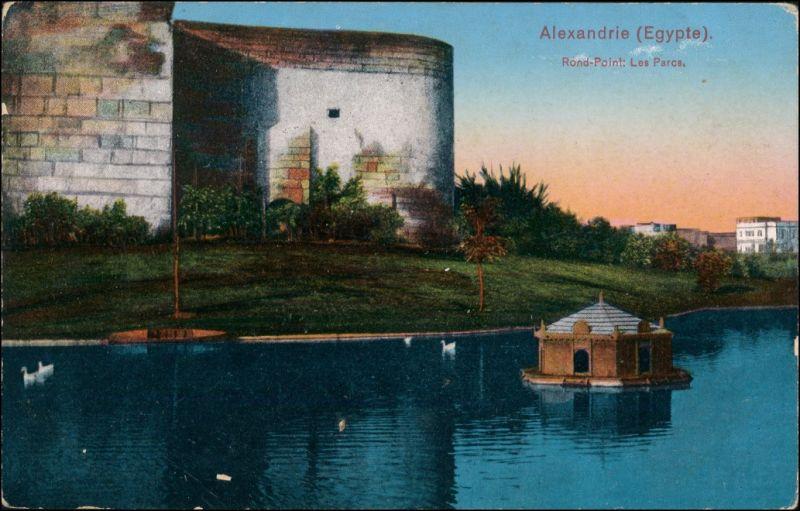 Alexandrien الإسكندرية, al-Iskandariyya Rond Point Les Parcs 1913