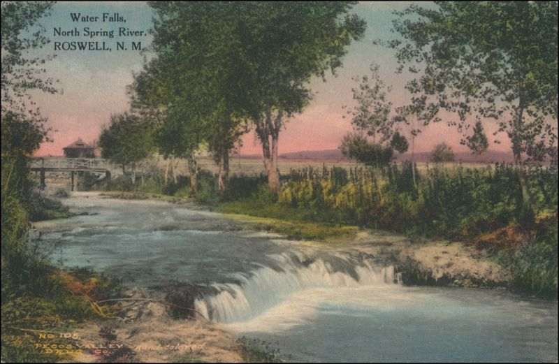 Postcard Roswell (New Mexico) North Spring River 1909