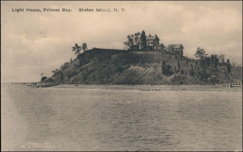Postcard Staten Island Light House Princess Bay 1913