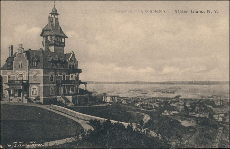 Postcard Staten Island Grymes Hill Stapleton 1913