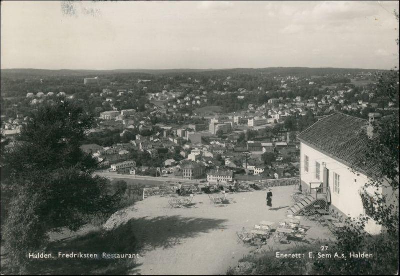 Postcard Halden (Norwegen) Fredrikshald Restauration Stadt 1954